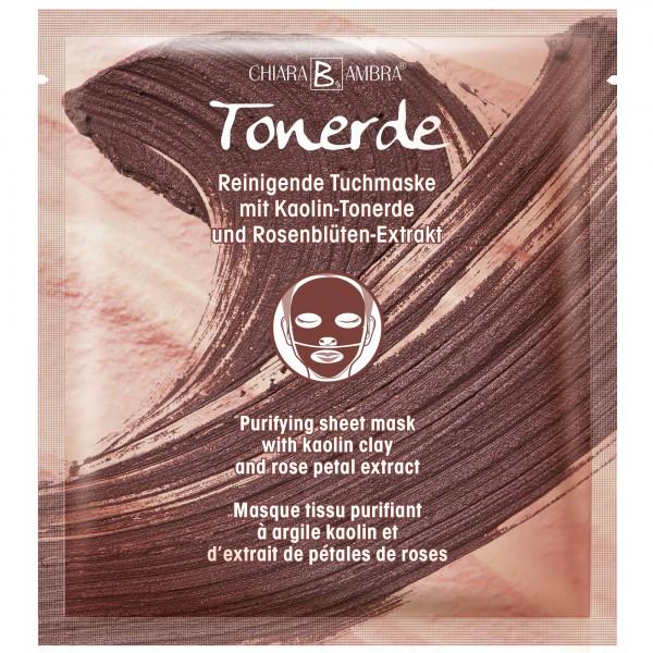 Reinigende Tuchmaske mit Kaolin-Tonerde und Rosenblüten-Extrakt