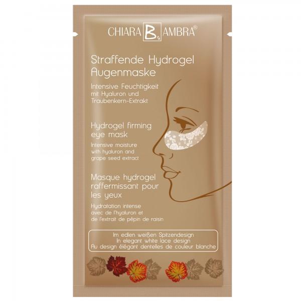 Weiße Hydrogel Augenmaske im Spitzendesign mit Goldschimmer Effekt